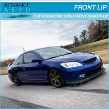 for 04 05 04 05 honda civic 2 4 door hc1 style front bumper lip