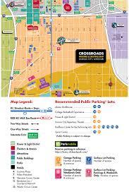 Map Of Kansas City Crossroads District Parking Map Visit Kc