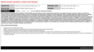 maximo technical consultant cover letter u0026 resume