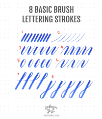 intro to brush lettering basic strokes hello brio studio