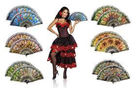 church fans in bulk amazon com omytea flowers folding hand held fans bulk for