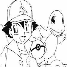 ash pokemon charmander pokemon colouring happy colouring