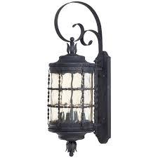 Lantern Style Outdoor Lighting by The Great Outdoors By Minka Lavery Mallorca 4 Light Spanish Iron