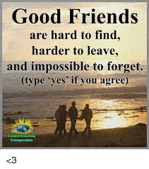 Good Friends Meme - good friends are hard to find harder to leave and impossible to