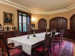 Gothic Dining Room by 1849 Gothic Revival Newport Ri Alexander Jackson Davis