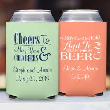 wedding koozie ideas custom wedding koozies collapsible neoprene my wedding