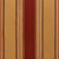 Striped Upholstery Fabric Gold And Burgundy Shiny Large And Thin Stripe Upholstery Fabric By