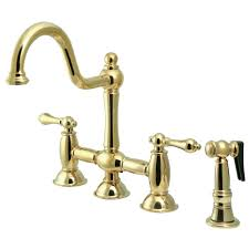 Bridge Faucets For Kitchen Kingston Brass Ks3792albs Restoration Kitchen Bridge Faucet With