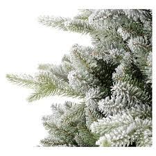 christmas tree feel real 180 cm flocked snowy s online sales
