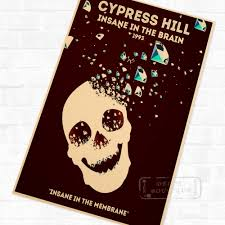 popular cypress wall buy cheap cypress wall lots from china cypress hill insane in the brain vintage retro cool poster decorative diy wall stickers home posters