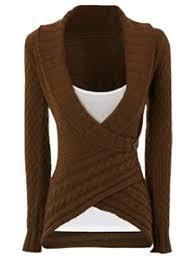 womens sweater sweaters cardigans khaki m chic turn neck