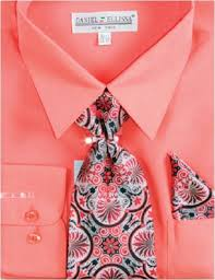 daniel ellissa men u0027s dress shirt with woven tie and hankie set