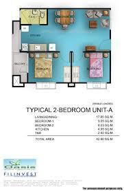 one oasis u2013 unit floor plan building filinvest davao
