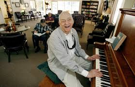 Blind Piano Player Paul Rasp Blind And 80 Shares His Piano Gifts With Seniors With