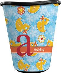 rubber duckies u0026 flowers waste basket personalized baby n toddler