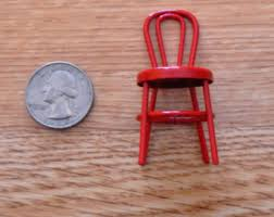 Red Metal Chair Metal Chair Etsy