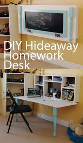 Wall Desk Ideas Diy Homework Hideaway Wall Desk The Organized