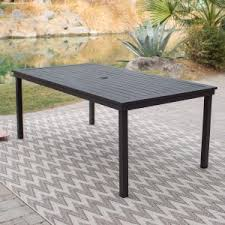 Patio Table With Umbrella Hole With Umbrella Hole Patio Dining Tables Hayneedle
