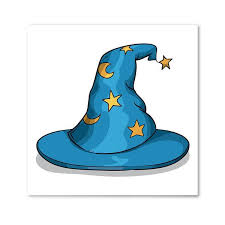 blue wizard hat with moon and stars photos com
