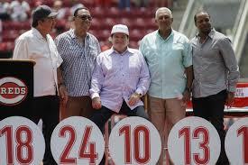 Johnny Bench Wife Reds Retire Pete Rose U0027s No 14 In Cincinnati Ceremony Ny Daily News