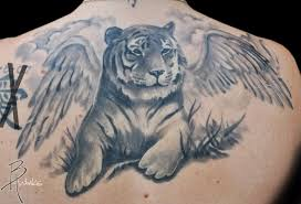 tiger with wings by brandon heffron tattoonow