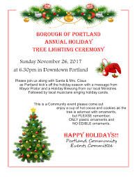 portland annual tree lighting nov 26 2017 u2013 borough of portland