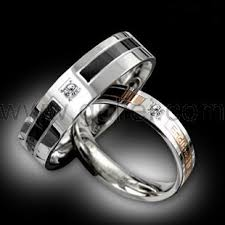 his and rings set custom name korean his titanium steel rings set of two