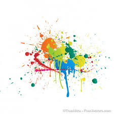abstract colorful splashes vector graphic art free vector