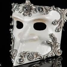 bauta mask masquerade bauta mask silver baroque