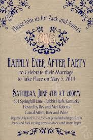 wedding reception invitation wording after ceremony rustic burlap linen post wedding or elopement celebration