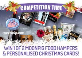 win 1 of 2 moonpig food hampers personalised christmas cards