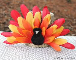 turkey napkin ring flower turkey crafting in the