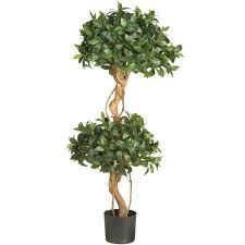 nearly 4 ft sweet bay topiary silk tree 5233