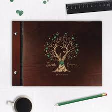 Photo Album Guest Book 30 Sheet Large Wooden Wedding Guest Book Photo Album Cartalia