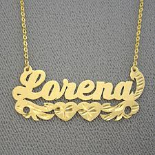 Name Necklace Gold Name Necklace Gold Lorena Personalized Jewelry