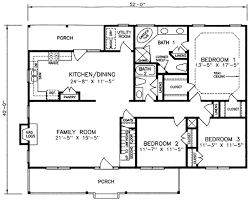 Farm Cottage Plans by Country Style House Plan 3 Beds 2 Baths 1660 Sq Ft Plan 66 175