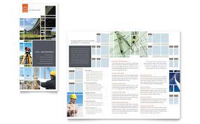 civil engineers tri fold brochure template word u0026 publisher