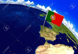 World Map Country Flags Flag Marker Over Country Of Portugal On World Map 3d Rendering