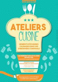 affiche atelier cuisine accueil association systeme e