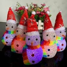 aliexpress com buy new ice crystal christmas snowmen night light