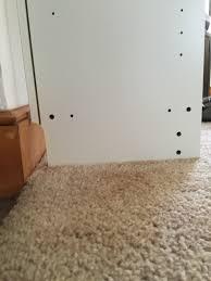flush baseboard billy bookcase baseboards too high gbcn