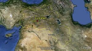 Kurdistan Map Kurdistan In Google Maps Youtube