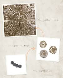 How To Put Up Tin Ceiling Tiles by Diy Vintage Tin Ceiling Board Ruffled