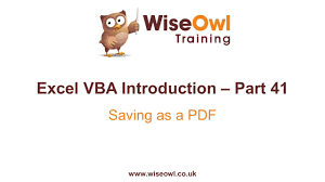 excel vba introduction part 41 saving as a pdf youtube
