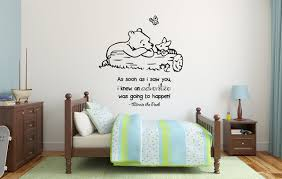 boy room winnie pooh as soon as i saw you mural wall