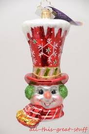 icicle snowman merck family s world glass ornaments