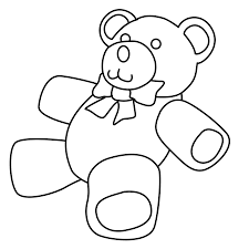 teddy bear heart coloring page alltoys for