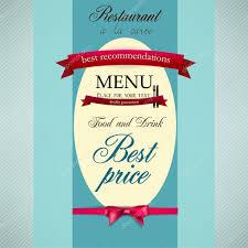 menu design for restaurant or cafe vintage vector template