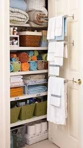bathroom closet design organized linen closet linens storage and spaces