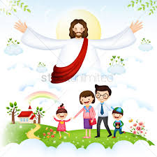 family blessed by jesus christ vector image 1492699 stockunlimited